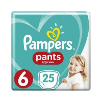 Pampers PANTS 6 Extra large 15+ кг (25 шт)