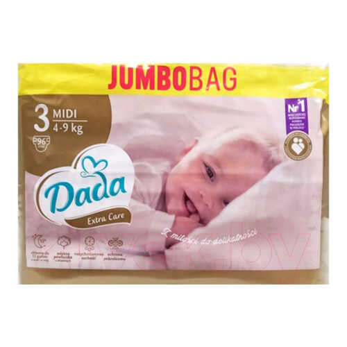 Dada Extra Care Midi 3 Jumbo Bag (96шт)