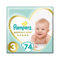 Подгузники Pampers Premium Care 3 Midi 6-10 кг ( 74 шт )