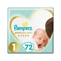 Подгузники Pampers Premium Care Newborn 1 (2-5 кг) 72 шт