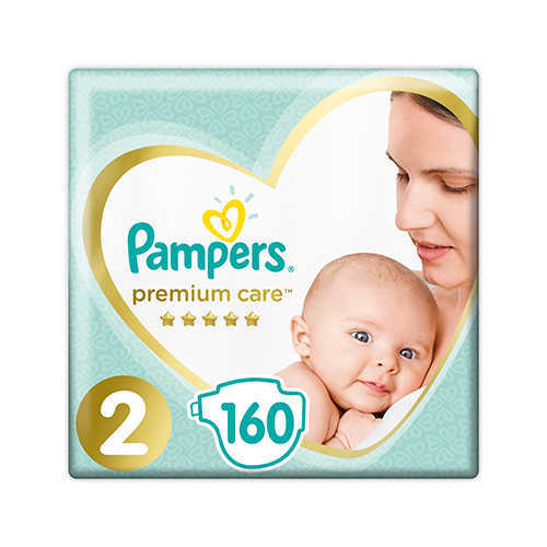 Подгузники PAMPERS PREMIUM CARE 2 (4-8 КГ) 160 ШТ.