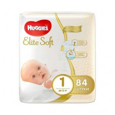 HUGGIES Elite Soft 1 (2-5 кг) 84 шт