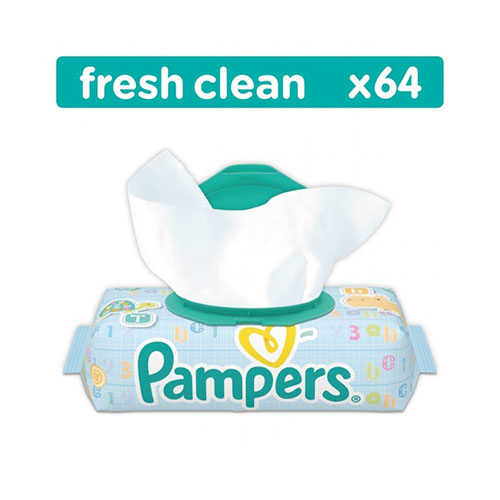 Pampers baby fresh clean, 64 шт
