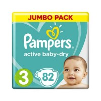 Pampers Active Baby-Dry 3 Midi 6-10 кг (82 шт)