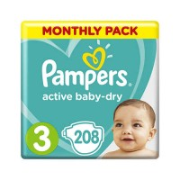 Pampers Active Baby-Dry 3 Midi (208шт)