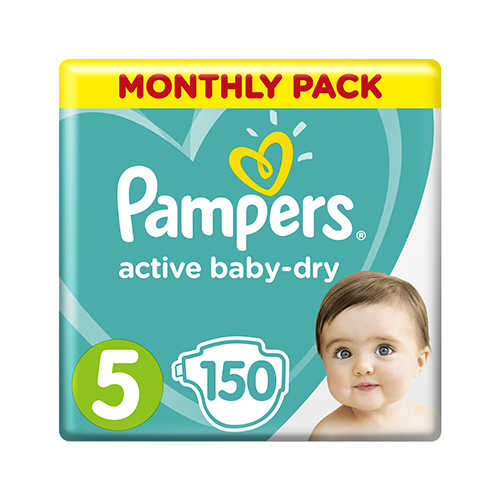 Pampers Active Baby-Dry 5 Junior (11 - 16 кг) 150шт