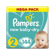 PAMPERS NEW BABY-DRY 2 MINI (4-8 КГ) GIANT PACK 144 ШТ.