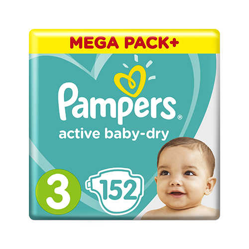 Pampers Active Baby 3 Midi (6-10 кг) Giant Pack 152 шт