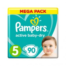 Pampers Active Baby-Dry 5 JUNIOR (11–16 кг), 90 шт.