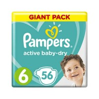 Pampers Active Baby 6 Extra Large (13-18 кг) 56шт