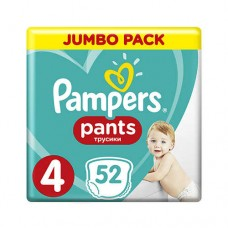 Pampers PANTS 4 Maxi 9-15 кг (52 шт)