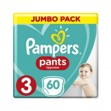 Pampers PANTS 3 Midi 6-11 кг (60 шт)