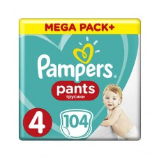 Pampers PANTS 4 Maxi 9-15 кг (104 шт)