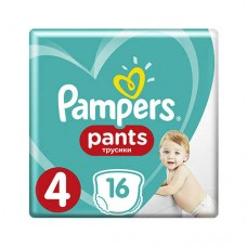 PAMPERS PANTS 4 MAXI (9-15 КГ) 16 ШТ