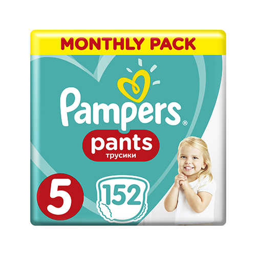 Pampers PANTS 5 Junior 12-17 кг (152 шт)
