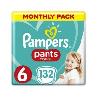 PAMPERS PANTS 6 EXTRA LARGE 15+ КГ (132 ШТ)