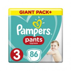 PAMPERS PANTS 3 MIDI 6-11 КГ (86 ШТ)