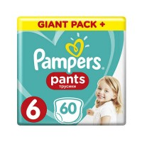 PAMPERS PANTS 6 EXTRA LARGE (15+ КГ) 60 ШТ