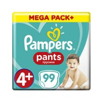 Pampers PANTS 4+ Maxi Plus 9-15 кг (99 шт)