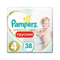 Pampers PANTS Premium Care 4 Maxi 9-15 кг (38 шт)