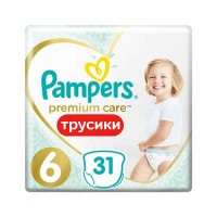 Pampers PANTS Premium Care 6 Extra Large 15+ кг (31 шт)